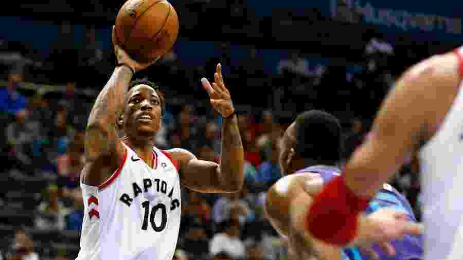O armador DeMar DeRozan, do Toronto Raptors - Jeremy Brevard-USA TODAY Sports