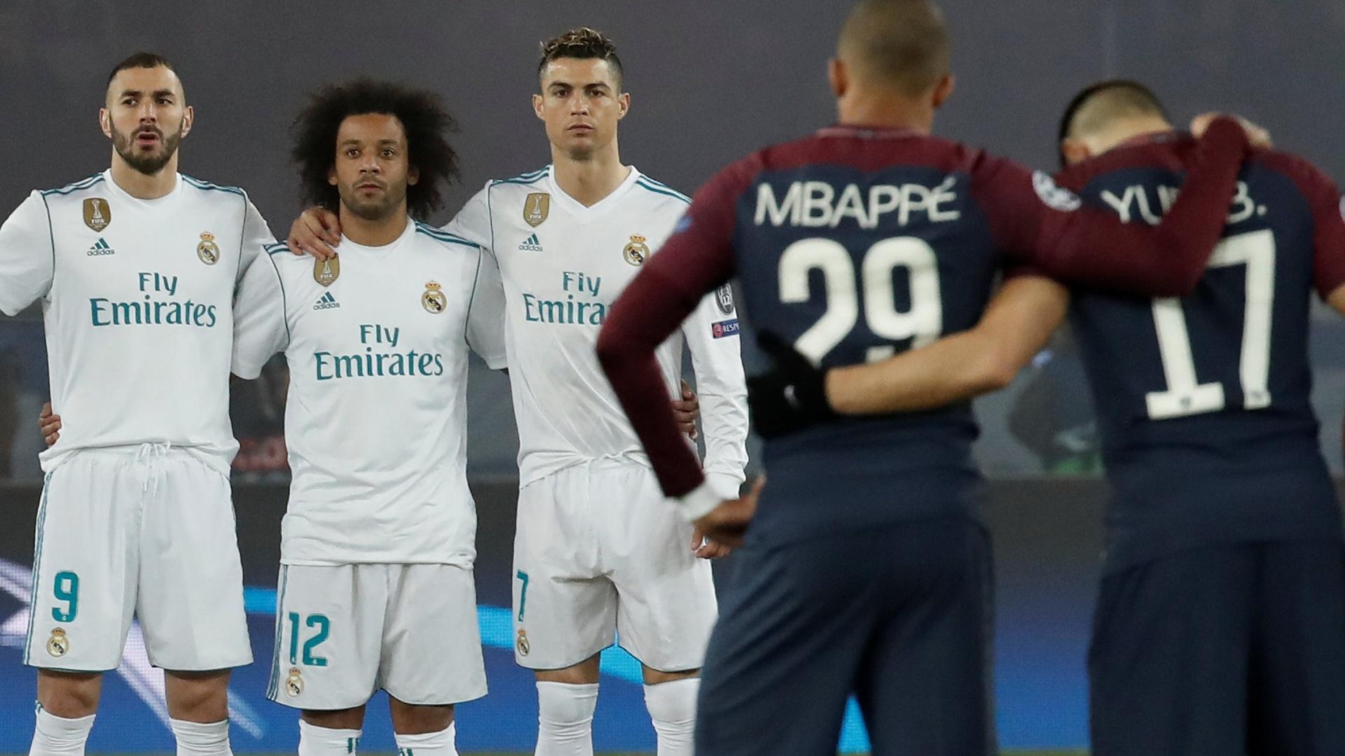 Real Madrid PSG minuto silêncio Astori