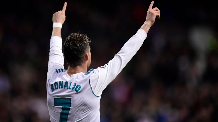 Cristiano Ronaldo comemora gol do Real sobre o Girona - Javier Soriano/AFP