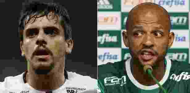 Fagner e Felipe Melo - Daniel Vorley/AGIF e Cesar Greco/Ag.Palmeiras - Daniel Vorley/AGIF e Cesar Greco/Ag.Palmeiras
