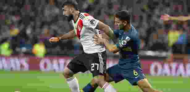 Lucas Pratto enfrentou dificuldades na primeira etapa; Boca dominou - Rodrigo Jimenez/EFE
