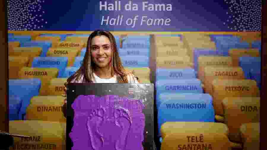 Marta é homenageada na calçada da fama do Maracanã - Staff Images