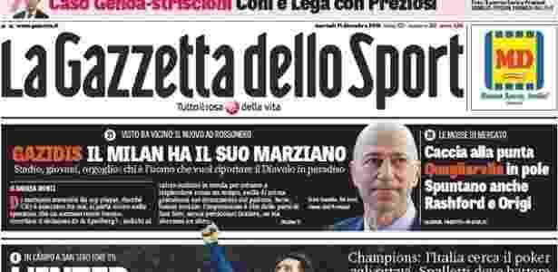 Gazzetta dello Sport - Milan - Reprodução - Reprodução