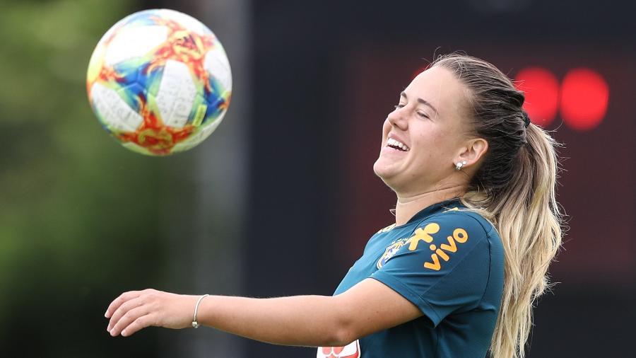 Andressinha, meio-campista da seleção feminina do Brasil - Rener Pinheiro / MoWA Press