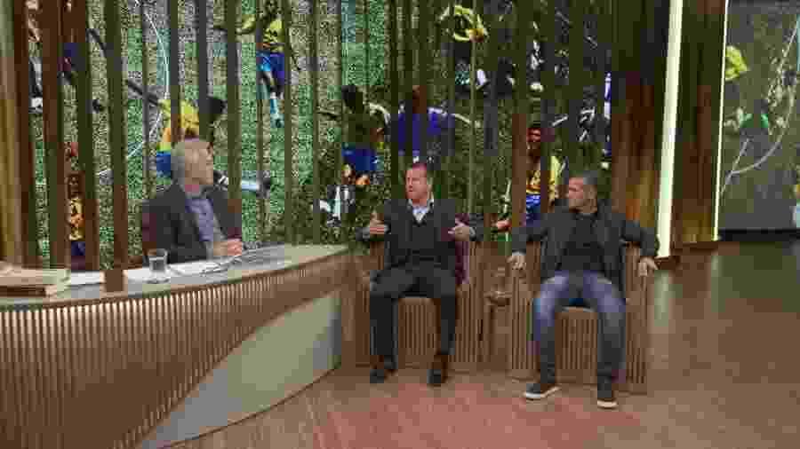 """Dunga e Jorginho durante participação no porgrama """"Conversa com Bial"""" - Reprodução/TV Globo"""