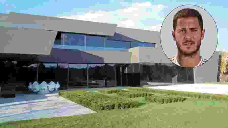 Nova casa de Hazard na Espanha é avaliada em cerca de R$ 49 milhões; ele comprou o imóvel de Alejandro Sanz - Reprodução/Semana.es / Reprodução/Twitter
