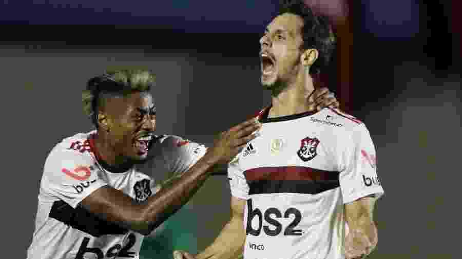Rodrigo Caio, do Flamengo, comemora gol - Heber Gomes/AGIF