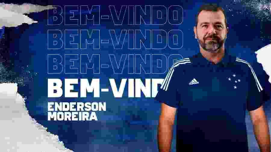 Enderson Moreira fechou com o Cruzeiro até o final do ano e com possibilidade de renovar até 2021 - Cruzeiro/Divulgação