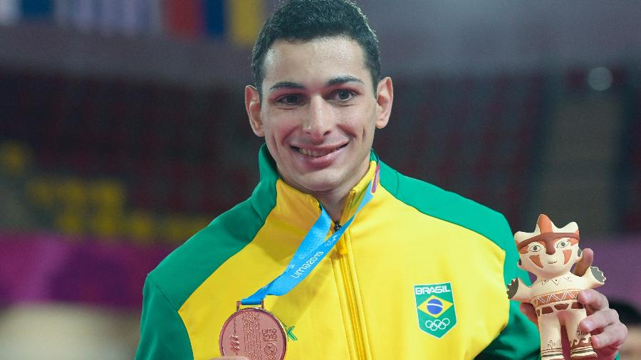 Vinicius Figueira, bronze no caratê em Lima-2019  - Washington Alves/COB