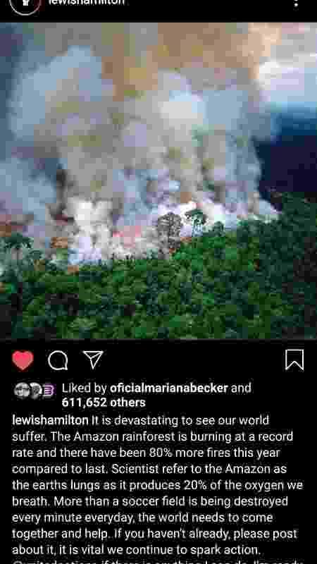 Hamilton Amazônia - Reprodução/Instagram - Reprodução/Instagram