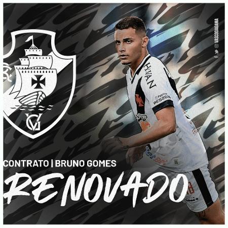 Volante Bruno Gomes foi um dos que renovou o contrato: seu vínculo agora é até julho de 2023 - Divulgação / Vasco