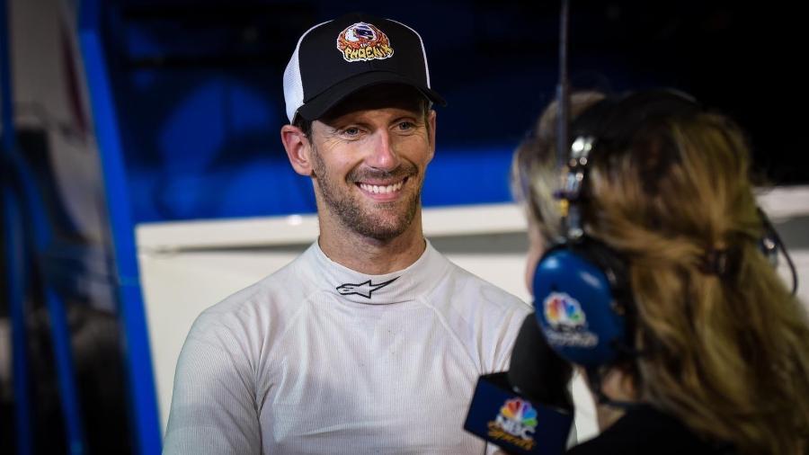 Romain Grosjean já conquistou três pódios em sua primeira temporada na Indy - Twitter/Reprodução