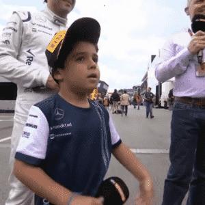 Felipinho, filho de Felipe Massa, é entrevistado pela TV inglesa no GP da Áustria - Sky Sports/Reprodução