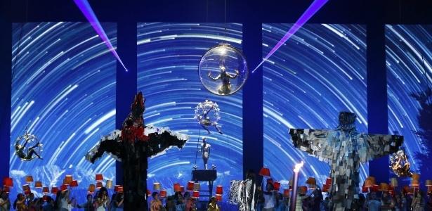Cirque du Soleil na abertura do Pan-Americano de 2015 - Rob Schumacher-USA TODAY