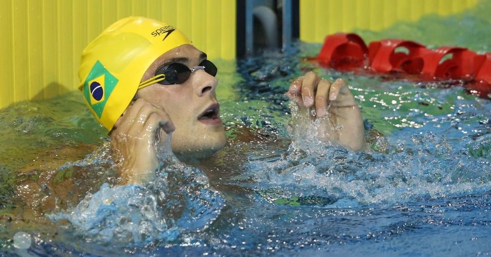 Marcelo Chierighini disputou as eliminatórias dos 100 m livre e se classificou para a final da prova
