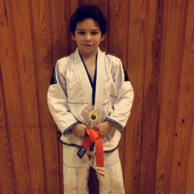 Mikael já venceu três torneios de jiu-jitsu desde que começou a treinar a