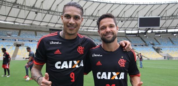 Guerrero e Diego são as referências do elenco do Flamengo desde o ano passado