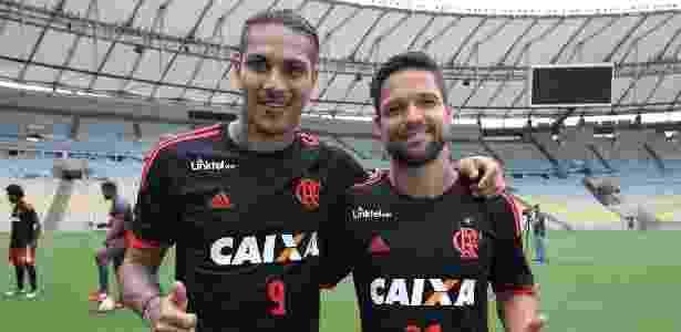 Guerrero e Diego são as referências do elenco do Flamengo no Campeonato Brasileiro - Gilvan de Souza/ Flamengo - Gilvan de Souza/ Flamengo