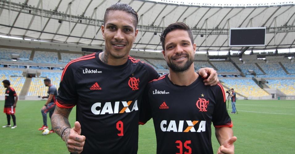 Guerrero e Diego são as referências do elenco do Flamengo no Campeonato Brasileiro