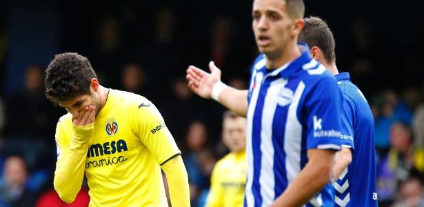 Pato lamenta um dos gols sofridos pelo Villarreal