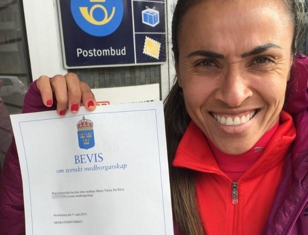 Marta obtém sua nacionalidade sueca e agora poderá viver no país após encerrar carreira