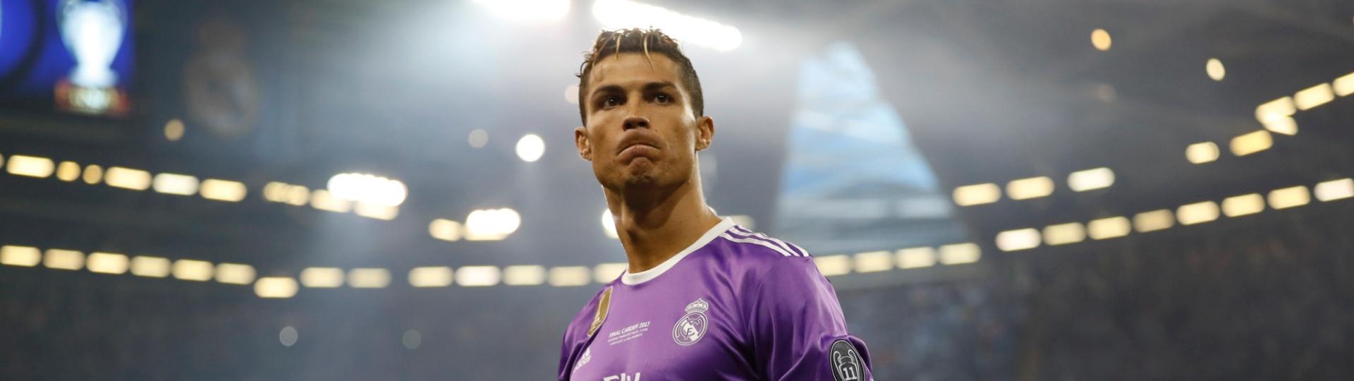 Cristiano Ronaldo, estrela do Real Madrid, faz cara feia antes da final da Liga dos Campeões contra a Juventus