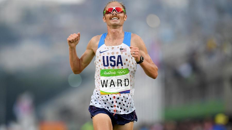 Ward ficou sem medalha, mas comemorou muito o sexto lugar na Olimpíada - Matthias Hangst/Getty Images