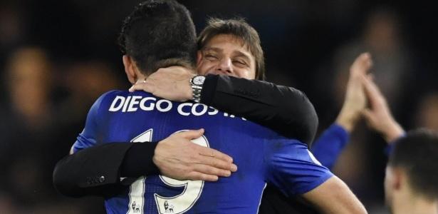 Diego Costa e Antonio Conte estão com a relação estremecida