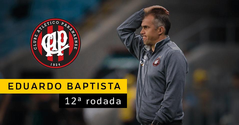 Eduardo Baptista caiu após empate do Atlético-PR contra a Chapecoense. Fabiano Soares foi anunciado como novo técnico
