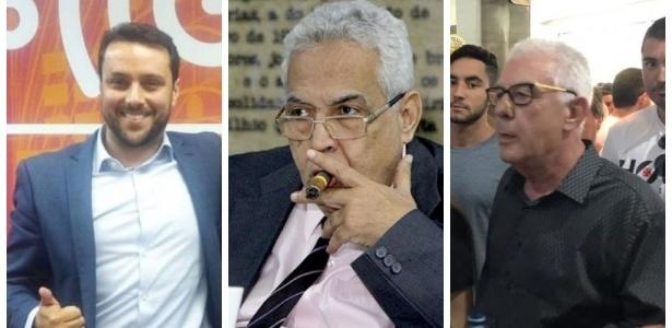 Julio Brant (e), Eurico Miranda (c) e Fernando Horta (d) disputam presidência do Vasco