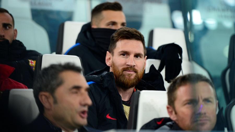 Messi começou no banco o jogo entre Barcelona e Juventus na última quarta-feira - Massimo Pinca/Reuters
