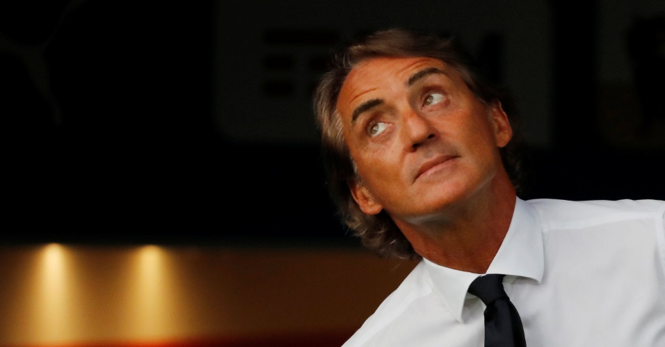 Roberto Mancini, técnico da Itália, antes de duelo contra a Polônia