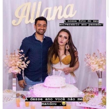 Daniel foi convidado para a festa de aniversário (17 ano) de Allana - Reprodução