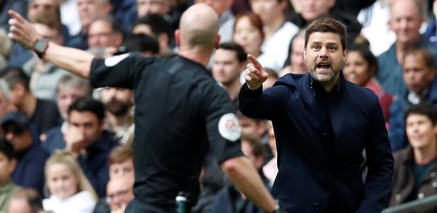 Pochettino durante clássico entre Tottenham e Arsenal - David Klein/Reuters