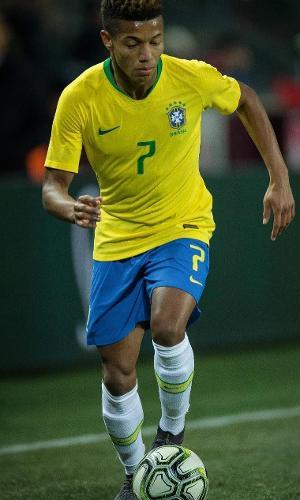 David Neres na estreia pela seleção brasileira
