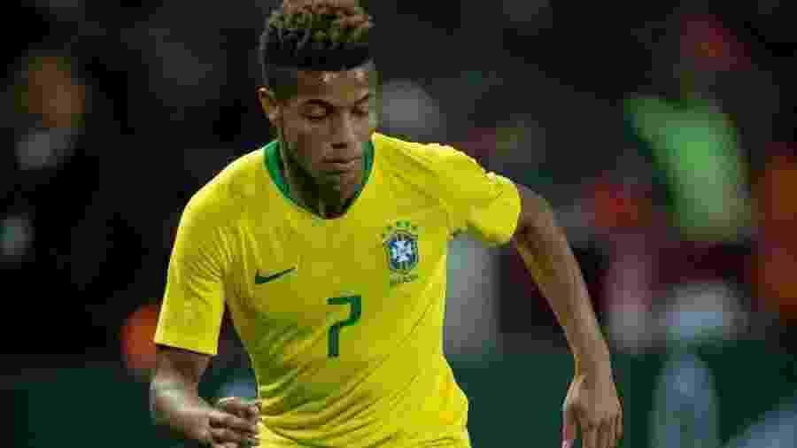 David Neres na estreia pela seleção brasileira - Reprodução/Instagram