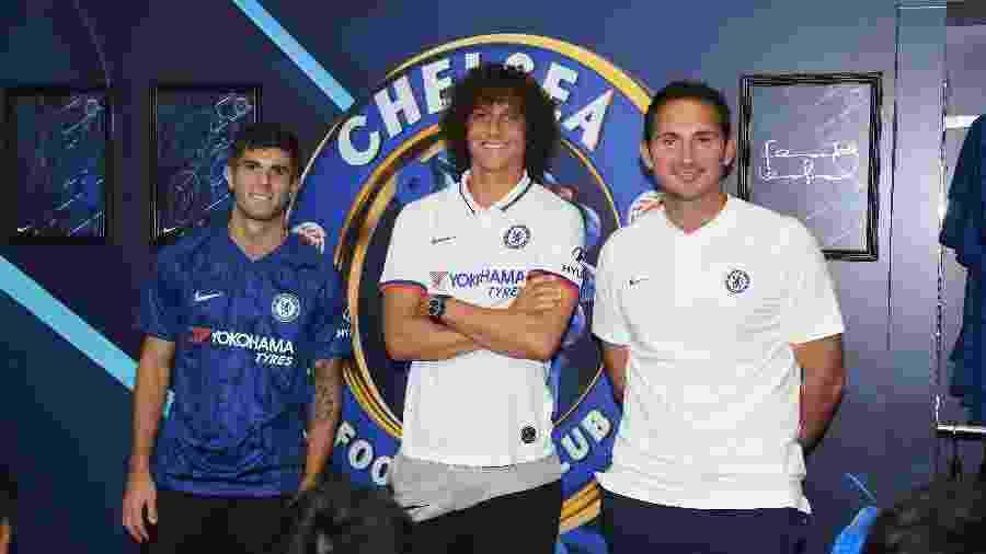 Pulisic, David Luiz e Frank Lampard participam de evento de marketing do Chelsea - Darren Walsh/Chelsea FC/Getty Images