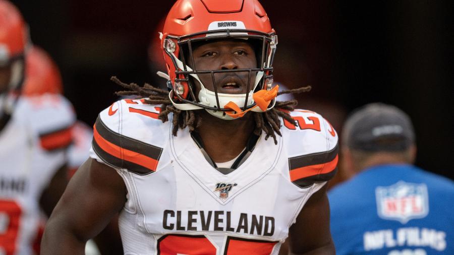 Kareem Hunt, running back do Cleveland Browns - Roy K. Miller/Icon Sportswire via Getty Images