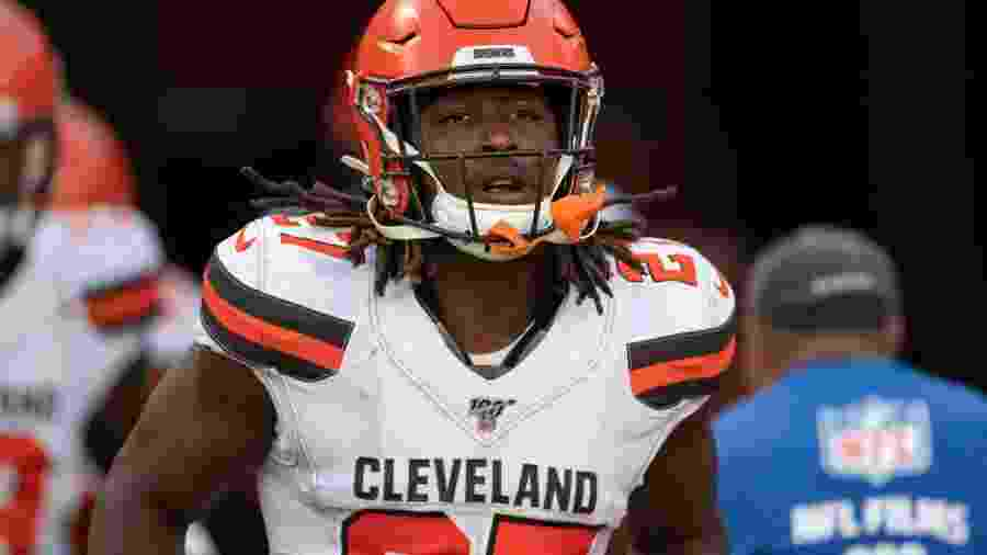 Kareem Hunt, running back do Cleveland Browns - Roy K. Miller/Icon Sportswire via Getty Images