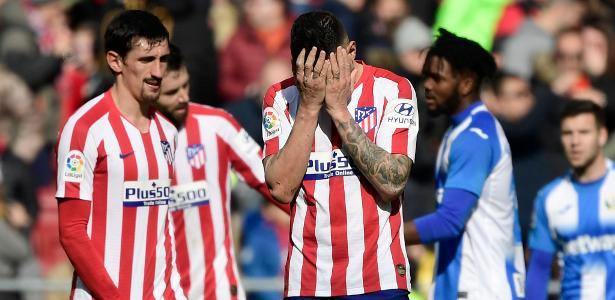 Atlético de Madrid joga mal de novo e não sai do zero com o Leganés