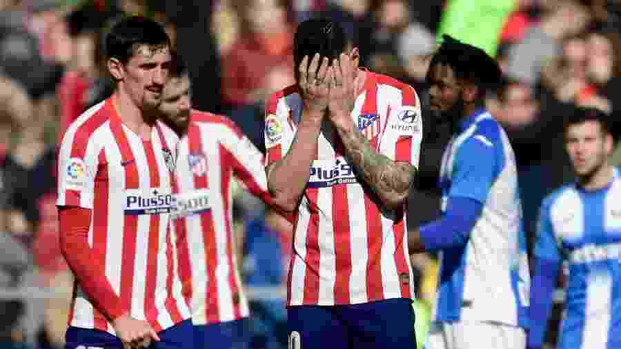 Vitolo, do Atletico de Madrid, lamenta chance perdida contra o Leganes - JAVIER SORIANO/AFP