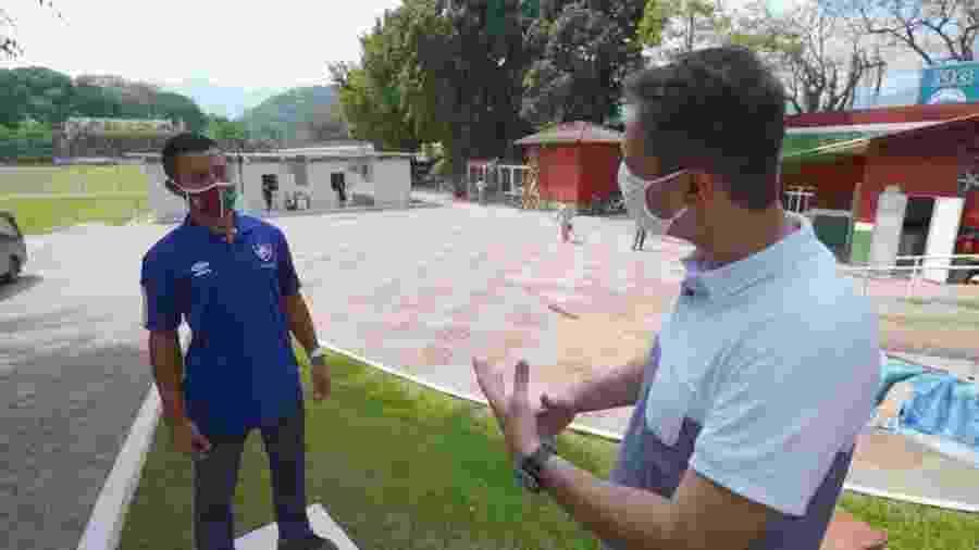 Raílson hoje é faxineiro do CT Vale das Laranjeiras, em Xerém, casa da base do Fluminense - Reprodução/TV Globo