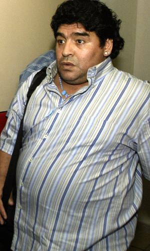 Diego Armando na chegada a Havana para tratar dependência química em 20 de setembro de 2004