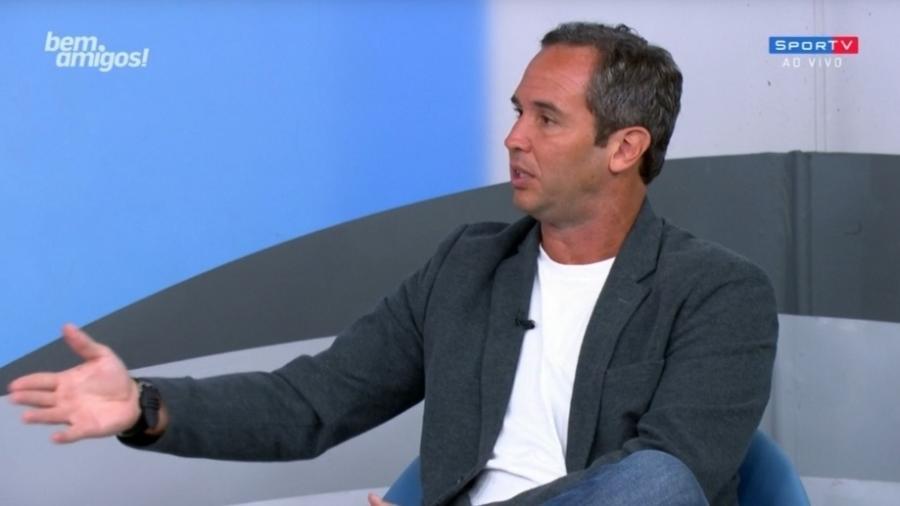 """Caio Ribeiro e Bodão se desentendem durante """"Bem, Amigos"""" - Reprodução/SporTV"""