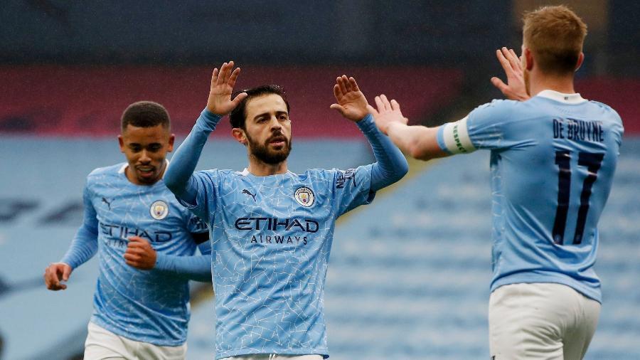 Bernardo Silva fez dois gols na vitória tranquila do City sobre o Birmingham - Phil Noble/Reuters
