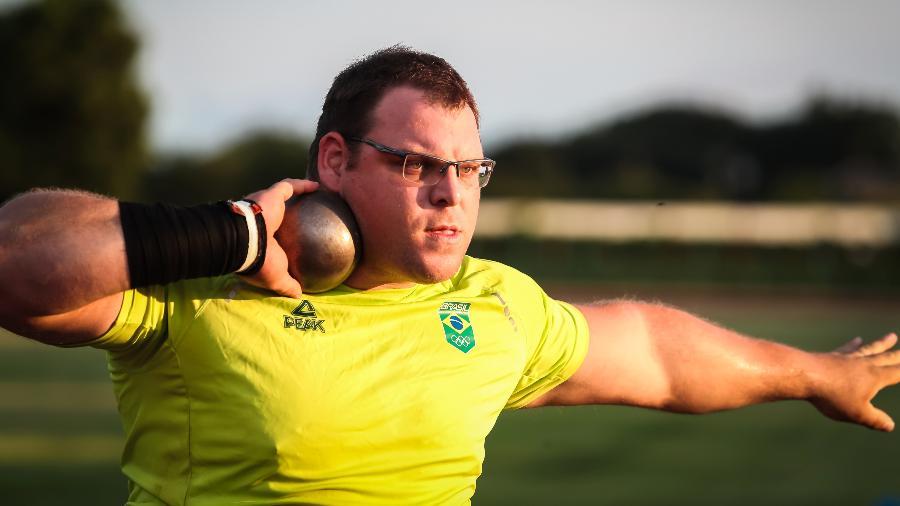 Darlan Romani, do arremesso de peso, treinando para os Jogos Olímpicos de Tóquio - Wander Roberto/COB