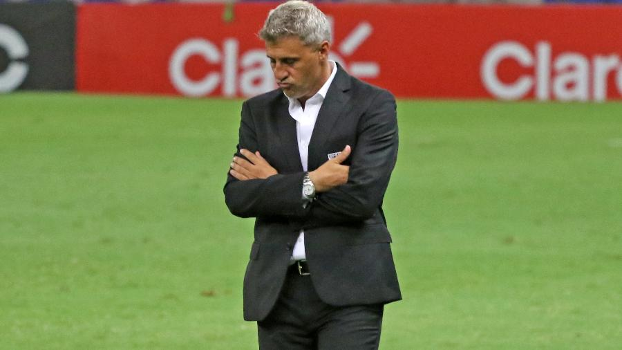 Hernán Crespo, técnico do São Paulo, durante a partida contra o Fortaleza - DANIEL GALBER/UAI FOTO/ESTADÃO CONTEÚDO