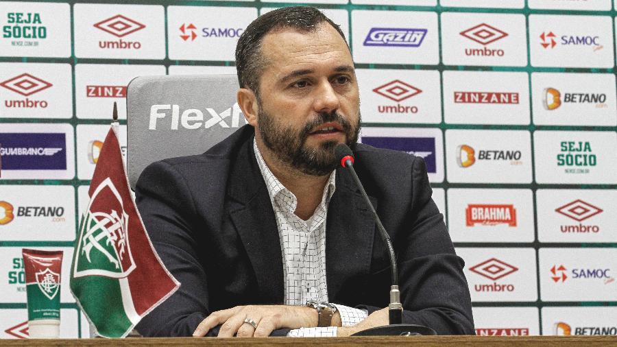 Mario Bittencourt concedeu entrevista coletiva no Fluminense nesta sexta (17) - Lucas Merçon/Fluminense FC