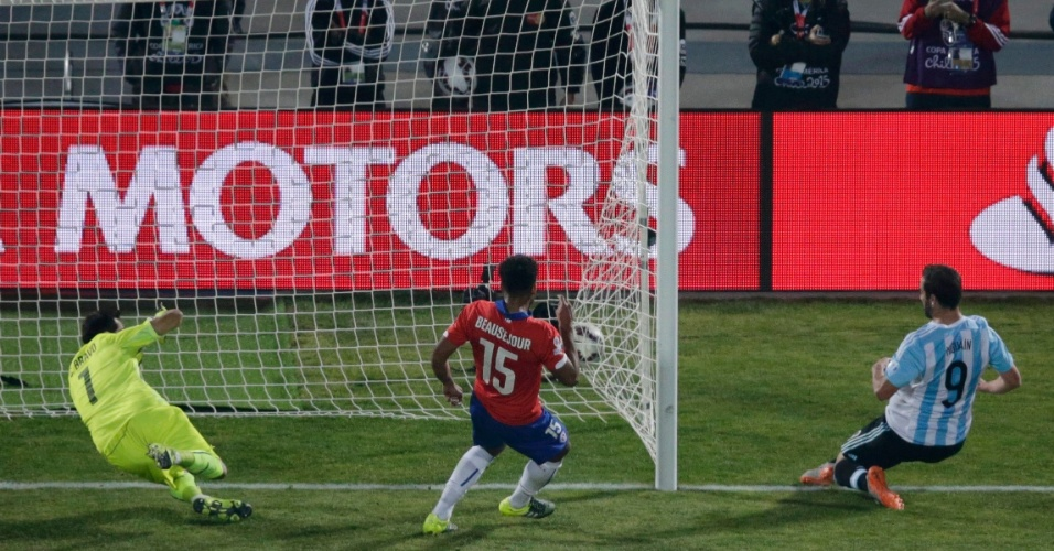 Higuain perde a chance de marcar no final da partida