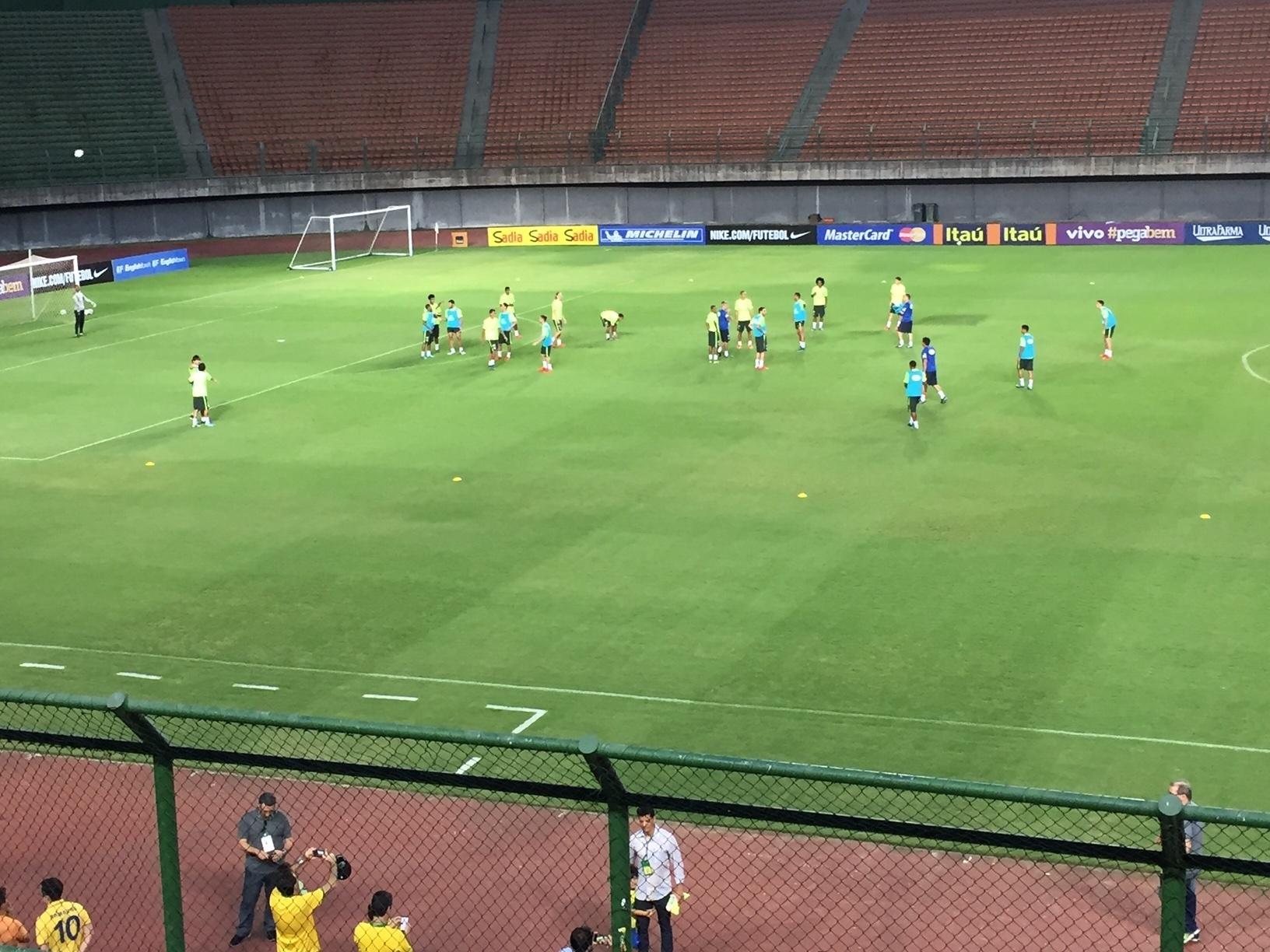 Seleção brasileira treina em Salvador